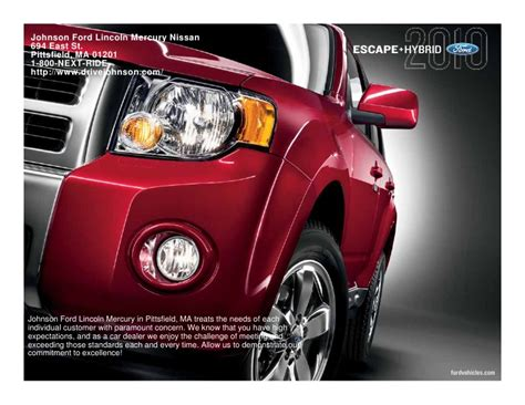 Johnson Ford Pittsfield 2010 Ford Escape Pittsfield