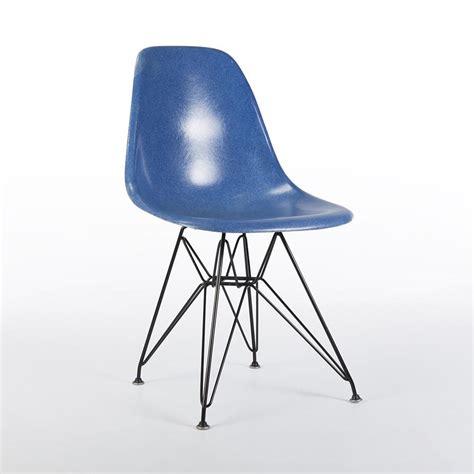 eames original electric blue herman miller original eames dsr side shell