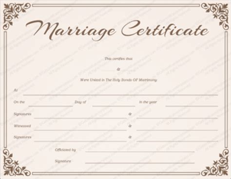 Free Marriage Certificate Templates Editable Printable Wedding Certificate Template