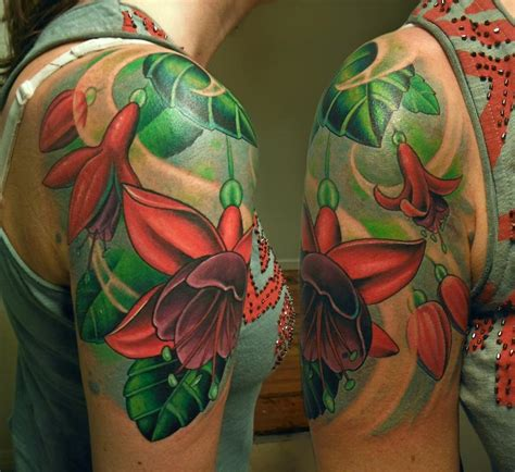 fuschia tattoo designs fuschia flowers by tim senecal tattoonow