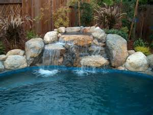 Backyard Pools Sacramento Closed Gorgeous Rock Swimming Pools On Rock Waterfalls Low