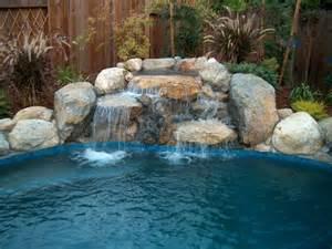 inground pool with waterfall inground swimming pool waterfalls bing images pool