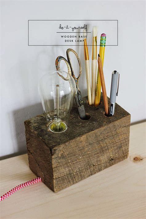 Diy Desk Light by Diy Wooden Base Desk L Poppytalk