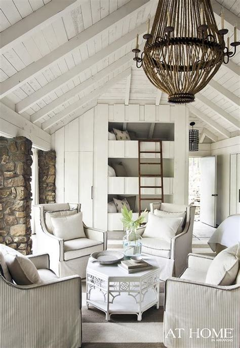 stacked bunk beds country living room  home  arkansas