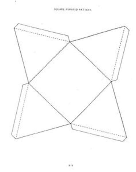 How To Make A Paper Pyramid Template - 1000 images about paper pyramids on