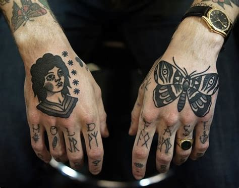 butterfly knuckle tattoo 88 badass knuckle tattoos that look powerful