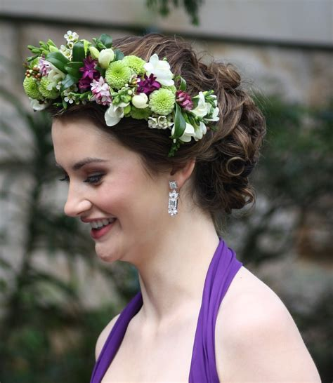 Wedding Hair Wreath Of Flowers by Floral Hair Wreath Flowers Of Sydney