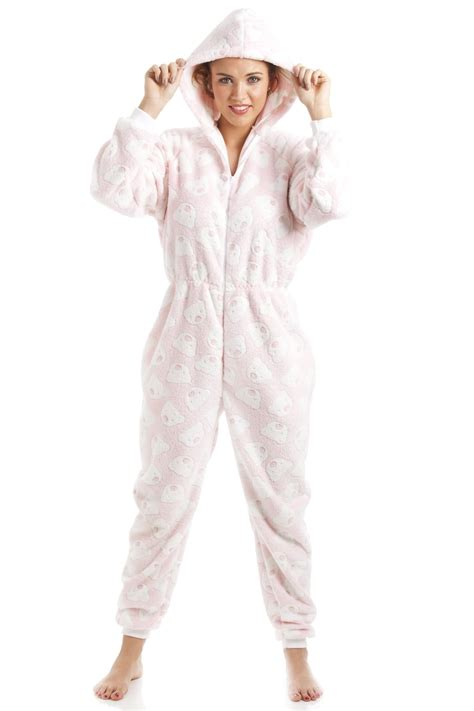 knitted onesie for adults pink soft fleece knitted in design hooded onesie