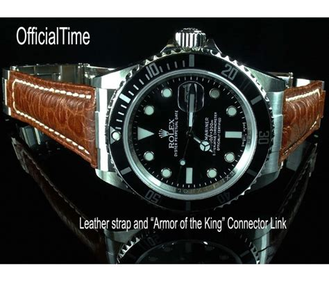 Rolex Leather 3 rolex submariner style 20 16mm buffalo leather 3