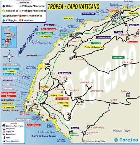 via capo dafrica mappa cartina di tropea cartina di capo vaticano by tropea biz
