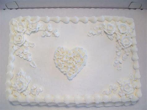Romance Wedding Sheet Cake   CakeCentral.com