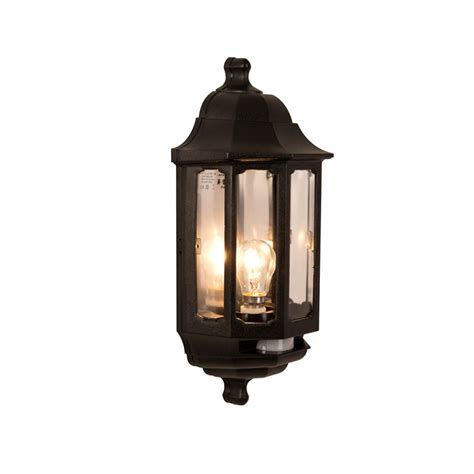 Outdoor Lighting With Pir Coach Half Lantern With Pir Lighting Direct