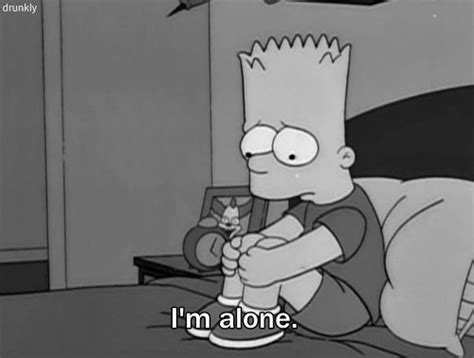 bart triste black and white alone bart simpson sadness tristeza