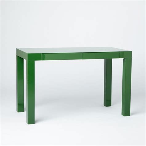 West Elm Parson Desk by Parson S Desk With Drawers Spruce Green Modern Desks
