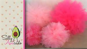 How To Make Large Pom Poms With Tissue Paper - how to make tulle pom poms last longer than tissue paper