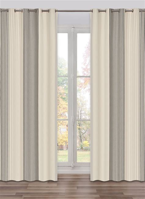 stripe curtain panel curtain panel stripe sauvelade with black and white