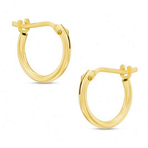 child s 10k gold 10mm hoop earrings view all jewelry
