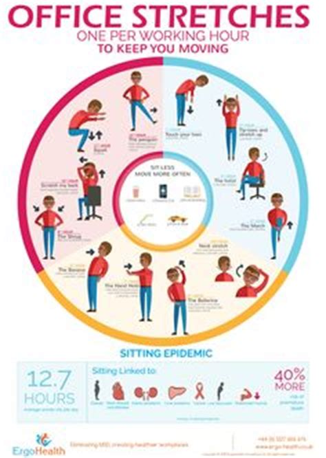 Office Desk Stretches 1000 Images About Office Ergonomics On Infographic Posture And Desks