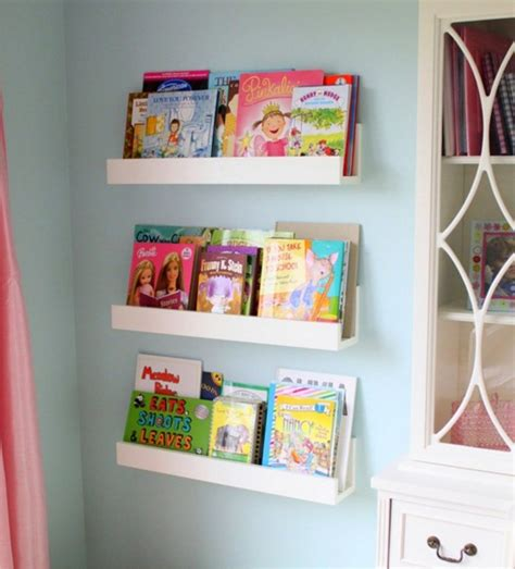 Diy Hanging Ls For Bedroom by Diy White Minimalist Wall Mounted Book Shelves For