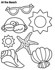 beach themed coloring pages images