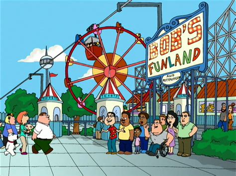 theme park owned by a television clown on the simpsons bob s funland amusement park family guy wiki fandom