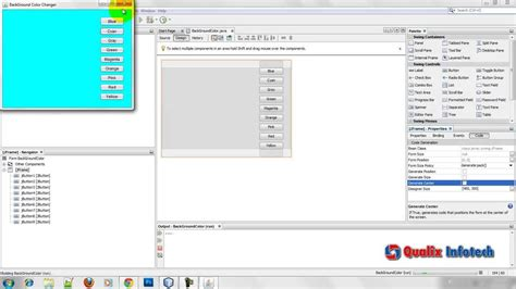 java swing tutorial netbeans change background color in jframe netbeans tutorial