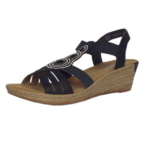 comfortable sandals for women rieker antistress cathedral women s comfortable navy