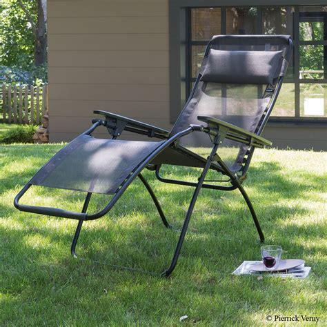 fauteuil relax lafuma futura graphite plantes et jardins