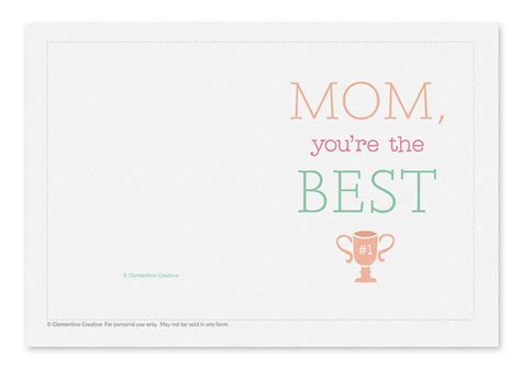 best mothers day cards printable mothers day card best mom 2 o jpg 1430993390