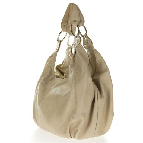 Handbag Wd 961 Beige cosette italian made beige soft leather slouchy hobo shoulder bag