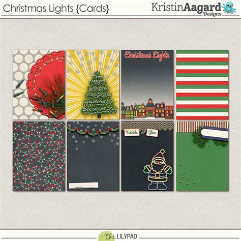 digital scrapbook christmas lights journalcards