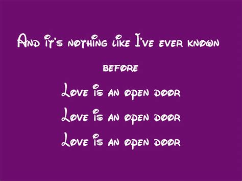 frozen is an open door lyrics