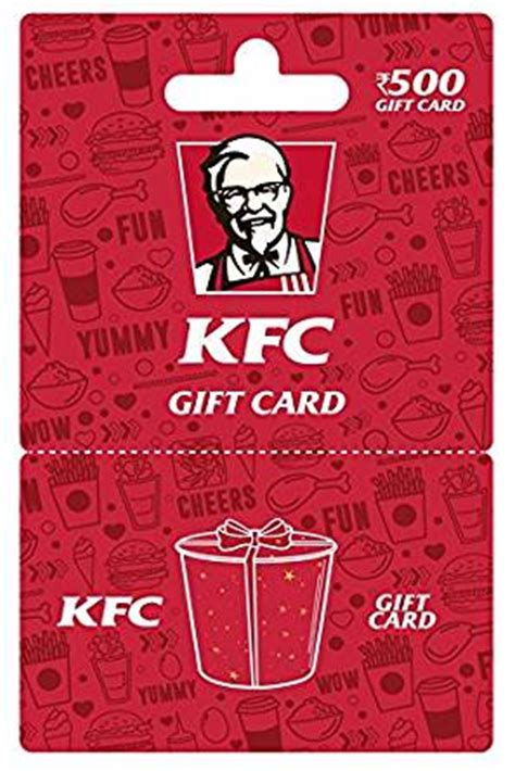 Kfc Gift Card Balance - kfc gift card rs 500 amazon in gift cards