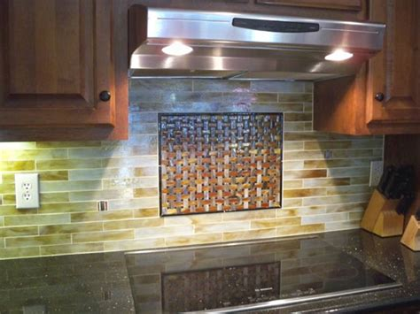 stained glass mosaic tile kitchen backsplash with fused