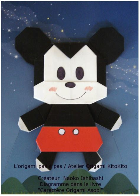 Mickey Mouse Origami - mickey mouse 1 l origami pas 224 pas atelier origami