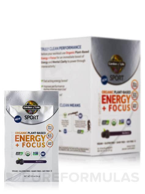 Garden Of Sport Energy And Focus Sport Organic Plant Based Energy Focus Blackberry Box