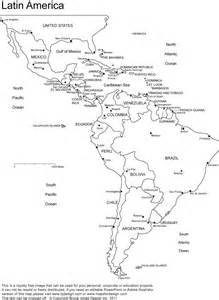 worksheets a blank map of central and south america