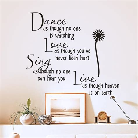 Live Love Laugh Wall Stickers dance quotes reviews online shopping reviews on dance