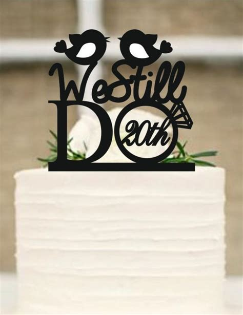 Wedding Cake Topper, We Still Do Love Birds 20th Vow