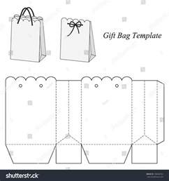 small gift bag template interesting gift bag template vector illustration