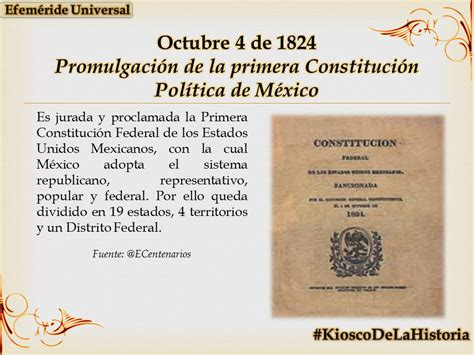 cuadro comparativo de la constitucion de 1824 1857 1917 en un d 237 a como hoy pero de 1824 se promulga la primera