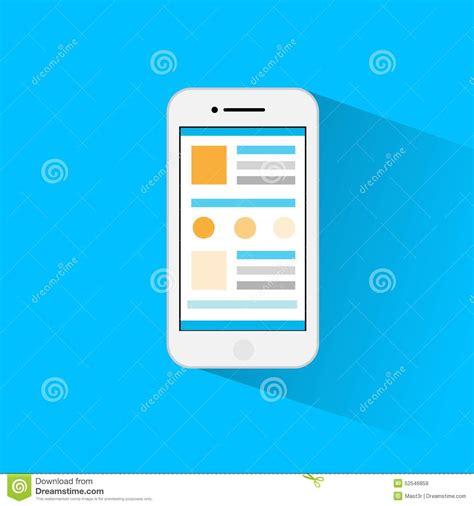 layout editor cell flat phone icon vector design cartoon vector cartoondealer