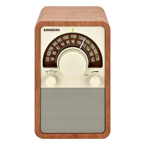 cabinet am fm radio sangean am fm analog wooden cabinet radio wr 15wl the