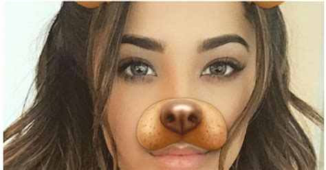celebs love  puppy dog snapchat filter  weekly