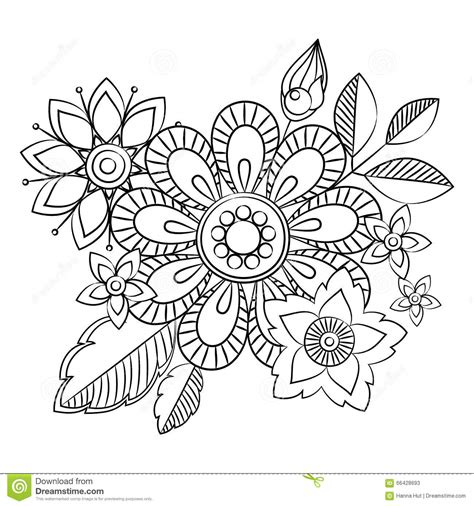 doodle drawing illustrator doodle flowers herbal design elements