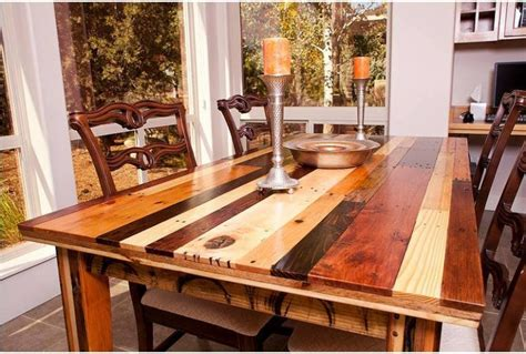 Dining Room Table Made From Pallets Pallets Made Dinning Table Pallet Ideas Recycled