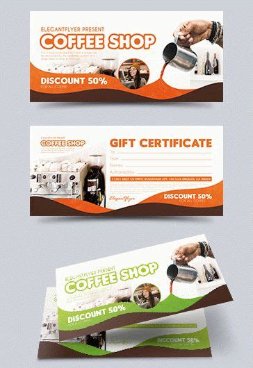 Coffee Shop By Elegantflyer Coffee Shop Gift Certificate Template