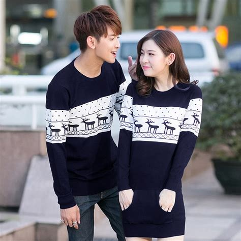 Sweaters For Couples by 2017 New Womens Mens Neck Reindeer