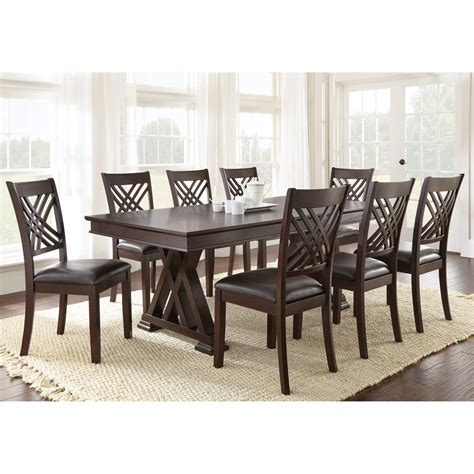 steve silver 9 adrian dining table set dining
