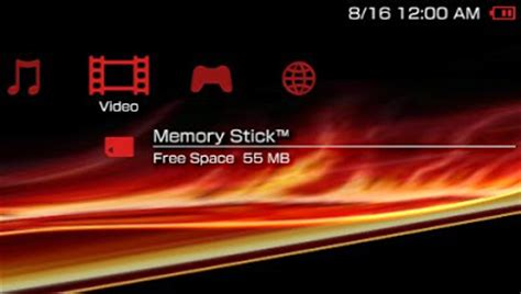 psp themes how modified red xmb psp theme free psp themes downloads